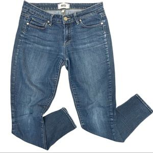 PAIGE Jeans Verdugo Ankle Zipper Sides Size 28